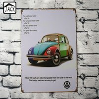 Wholesale Colorful Posters - Colorful Car 20x30cm Plaque Gallery Tin Paintings Advertising Shop Bar Wall Decor Retro Tin Poster Metal Tin Signs