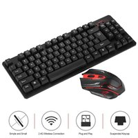 Wholesale office works computers - Office Combos 2.4G Wireless Keyboard and Mouse Combo Computer Keyboard with Mouse Plug and Play for Home Laptop work MacBook Air