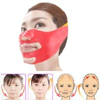 Wholesale health care resale online - Silicone Thin Face Mask D V line Lift Face Bandage Belt Slimming Facial Double Chin Skin Lifting Slim Massager Health Care