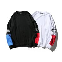außenmantel lang großhandel-2018 Sommer-Männer Langarm-Sweatshirt Koreanische Version des Trends lose BF Wind ulzzang Hip Hop Terry Außenmantel Fortit