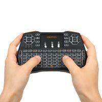 handfernbedienung großhandel-VIBOTON 2.4G Mini Wireless Tastatur Multimedia Hand Tastatur Touchpad Maus Fernbedienung für Windows PC Android TV Box