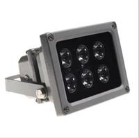 infrarot-lichter für nachtsicht großhandel-Outdoor wasserdichte IP65 6pcs LED Infrarot Nachtsicht Beleuchtung Lampe mit Lichtschranke (Lichtsensor) Schalter füllen Licht für CCTV-Kamera