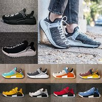 Wholesale Woman Ch - (With Box) 2018 NMD Human Race Pharrell X CH Williams Hu trail NERD Men Women Running Shoes noble ink core Black Red sneaker