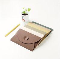 vintage grußkarten leer großhandel-10 teile / los Vintage Liebe Schnalle Perle Papier Blank Umschläge Multicolor Business Spezialgebiet Geschenk Grußkarte Kreative Bunte