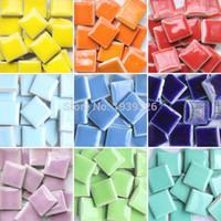 mermer döşeme toptan satış-Diy Renkli Mozaik Fayans Zanaat 200 Adet Bahçe Akvaryum Dekorasyon Doğal Cam Taş Ve Mineraller Kare Mermer Seramik Mozaik