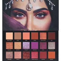 Wholesale metallic pearl - New 18-color eye shadow flash powder pearl matte eye shadow princess diamond eye shadow