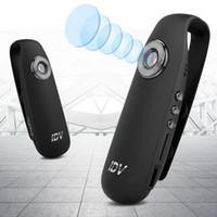 mini dv ses kaydedici toptan satış-Mini Kamera IDV007 Full HD 1080 P Mini DV Video 130 Geniş Açı Çizgi Kam Giyilebilir Vücut Bisiklet H.264 Kamera Ses Kaydedici Mikro IDV 007