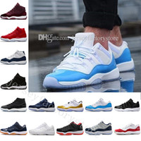 Wholesale landing ships online - Drop shipping Cheap Basketball Shoes Men s Olympic Gold Bred Space Jam s Concords XI Moon Landing Sneakers US Eur