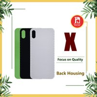 Wholesale iphone battery back housing for sale - For iPhone X Back Battery Cover Back Glass Logo Adhesive Rear Door Panel Glass Housing Case Repair Replacement Part for iphoneX