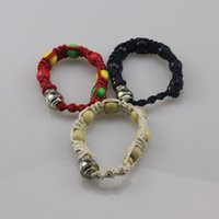 rasta armbänder großhandel-Portable Metall Armband Rauch Pfeife Tabakpfeife Jamaika Rasta Pipe drei Farben Geschenk für Mann und Frau