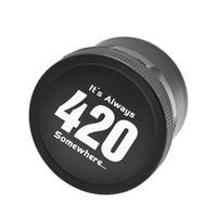 Wholesale 420 Logo Aeronautic Aluminum Metal Dry Herb Grinder mm Diameter Layers Herbal Grinders DHL