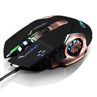 ratón d al por mayor-Led retroiluminado USB con cable Carble Ajustable DPI Ergonómico óptico 6 D Gaming Mouse Ratones para computadora de oficina PC Souris Gamer
