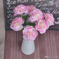 seiden nelken großhandel-Künstliche Blume Carnation Spun Silk Blumen Mutter Tag Geschenk Hauptlieferung Dekoration Lehrer Tage Geschenk Braut Bouquet Hochzeit 1 1st gg