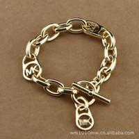 bracelet en diamant couleur achat en gros de-M sérieHeart Diamond Bracelet pour hommes et femmes trois couleurs de sélection MK lettres bracelet jfj01