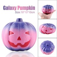 Wholesale toy pumpkins - Creative Squishy Starry Pumpkin Slow Rebound Decompression Toys Squishies Hand Squeezed Toy Children Halloween Gifts