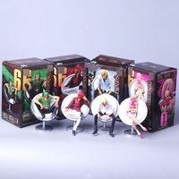 tek parça hareket figürü toplama toptan satış-5 Stilleri Anime Tek Parça Vinsmoke Reiju Sanji Yonji Action Figure OP Vinsmoke Aile Luffy Sanji Oturma Pozisyonu Koleksiyonu