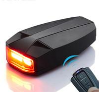 ingrosso anti corno-Allarme luce antifurto per bicicletta antifurto per bicicletta luce posteriore a batteria IPX5 Luce posteriore per bicicletta