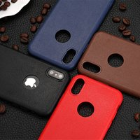 Wholesale Orange Texture - Fashion Soft TPU Silicone Case Anti Slip Leather Texture Phone Cases Cover For iPhone X 8 7 6 6S Plus Note 8 S8