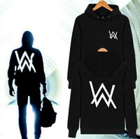 Wholesale Music Choices - Men Women Music DJ remix Comedy pocket pullover Alan Walker hoodies hip hop rock star hooded sweatshirt 4 styles for choice