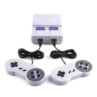 Wholesale super popular for sale - Drop Shipping Super Popular Super Mini SFC Game Handheld Console Games Consoles With Double Controllers AV Cable US Plug Packing Box
