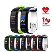relojes bandas de colores al por mayor-Monitor de fitness Reloj Fitbit Band Color Display P1 PLUS Pantalla táctil colorida con monitor de ritmo cardíaco Presión arterial Sleep IP67 a prueba de agua