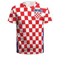 Wholesale Cheap Womens T Shirts - Croatia Team-New Russia 2018 Football FIFA Soccer Championship Teams Mens Womens Shirt Youth T-Shirt Cheap On Sale 6 Size