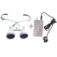 Wholesale Loupe Glasses Dental - 3.5X Dental Hygienists Surgical Binocular Loupe Glasses 3W Headlight Lamp Silver