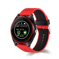 gravação de relógio grátis venda por atacado-V9 smartwatch android V8 DZ09 U8 samsung relógios inteligentes SIM Inteligente relógio do telefone móvel pode gravar o estado do sono Passometer livre DHL