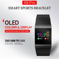 Wholesale gps watch dhl free for sale - X9 Pro Colorful Screen Smart Wristband Passometer Blood Pressure watch Sport Bracelet Heart Rate Tracker free DHL