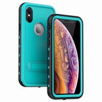 iphone su geçirmez toptan satış-Iphone xs için max x 8 7 artı samsung galaxy s8 s9 s10 not8 note9 note9 su geçirmez kılıf kapak su şok perakende perakende