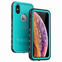 max abs al por mayor-Para iphone XS Max X 8 7 Plus Samsung Galaxy S8 S9 S10 Note8 Note9 Cubierta impermeable de la caja Paquete a prueba de agua a prueba de golpes al por menor