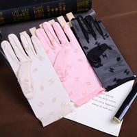 dedo de primavera al por mayor-Guantes de dama de encaje de primavera verano, guantes de protección solar para mujeres