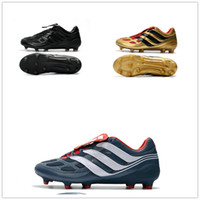 Wholesale Limited Soccer Cleats - Wholesale Drop Shipping 2017 Predator Mania Predator Precision Cleats Black Gold Limited Edition Size EU39-45 Soccer Boosts Football Shoes