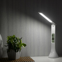 Wholesale table lamp touch dimmable - Foldable Touch Desk Lamp 3-level Dimmable Eye-Care LED Reading Light Table Lamp with Digital Calendar 2018 New