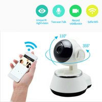 Wholesale wireless network outdoor online - 360 degree P HD WIFI IP Camera V380 Phone Remote Network surveillance cameras Baby monitor remote control
