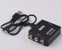 Wholesale digital analog converter adapter resale online - Hot selling Mini HDMI Converter to AV RCA Digital to Analog Converter AV Audio Video Factory Outlet HDMI2AV P US