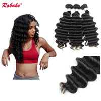 Wholesale indian remi hair weave for sale - 3 or Indian Remy Hair Loose Deep Wave Bundles Rabake A Grade Raw Indian Unprocessed Remi Loose Deep Curly Hair Extensions