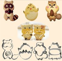 Wholesale small bear gifts - Animal Biscuit Mold Set Cute Cartoon Bear Puppy Cake Mould For Kitchen Bar Gifts Desserts Accessories Small Cakes Baking Moulds 2 8as Y