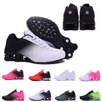 en yeni koşu ayakkabıları toptan satış-Yeni Shox Teslim 809 Erkekler Hava Koşu Ayakkabı Drop Shipping Toptan Ünlü DELIVER OZ NZ Erkek Atletik Sneakers Spor Koşu Ayakkabıları 40-46
