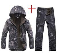 Wholesale soft skin tactical jacket for sale - Men Tactical Jacket Lurker Shark Skin Soft Shell TAD Windbreaker Kryptek Black Camouflage Waterproof Hooded Camo Hunting Clothes