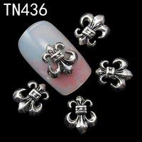 ingrosso chiodi neri art-10pc nero lega glitter 3d nail art decorazioni di ancoraggio con strass, nail charms 3D, gioielli sulle unghie salone forniture TN436