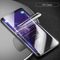 tpu anti şok ekran koruyucusu toptan satış-Hidrojel Film Tam Kapak Samsung Galaxy için S10 S10Lite S10Plus Not 8 9 iPhone XS XS Max XR Yumuşak Ekran Koruyucu