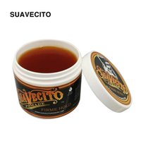 Wholesale gelled hair online - Suavecito Pomade Hair Waxes Strong Style Restoring Pomade Hair Gel Style Tools Firme Hold Big Skeleton Slicked Back Hair Oil Wax Mud