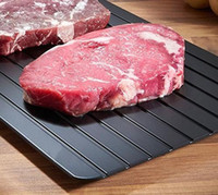 Wholesale meat bags - Defrost Meat Tray Eco-Friendly Fast Thawing Tray Plate Frozen Food Defrosting Tray for Kitchen Tools with Opp Bag