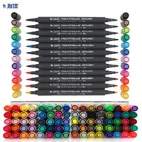 Wholesale old paint brushes resale online - STA Color Art Markers Set Dual Headed Artist Sketch Alcohol based markers For Animation Manga liner brush pen
