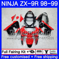 Wholesale 98 zx9r fairing red for sale - Body For KAWASAKI NINJA ZX900 Factory red blk ZX9 R ZX ZX R HM CC ZX R ZX9R ZX R Fairing kit