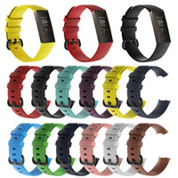 Wholesale bracelet silicone wristband sports for sale - Group buy For Fitbit Charge3 Silicone band Straps Offical silicone wristband Sport Smart bands accessories Wristband Breathable Bracelet Charge