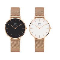 filles à bracelet achat en gros de-montres de luxe daniel pour femmes 32mm en acier inoxydable dames de mode d'or femme fille montre-bracelet de haute qualité horloge des femmes