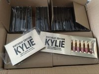 Wholesale kylie lipstick holiday edition online - hot sell Kylie Jenner holiday Birthday Edition Lip Kit Matte Liquid Lipsticks set mini kylie lipgloss kit