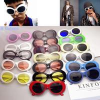 felsbrillen großhandel-Clout Brille NIRVANA Kurt Cobain Brille Alien Sonnenbrille Klassische Vintage Retro Oval Fashion Superstar Stil Punk Rock Glasse GGA623 100 STÜCKE